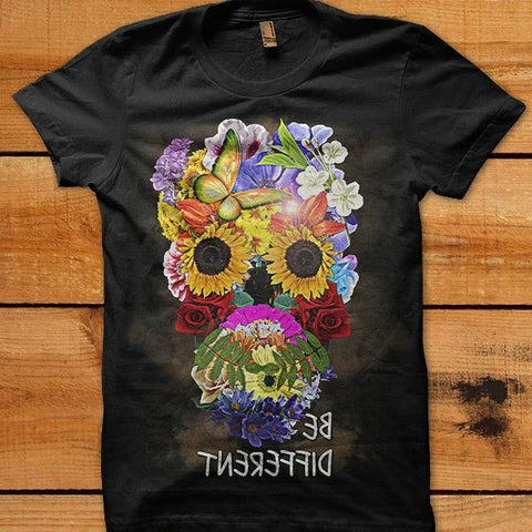 "Flower Face ""Be Different"" T-shirt"