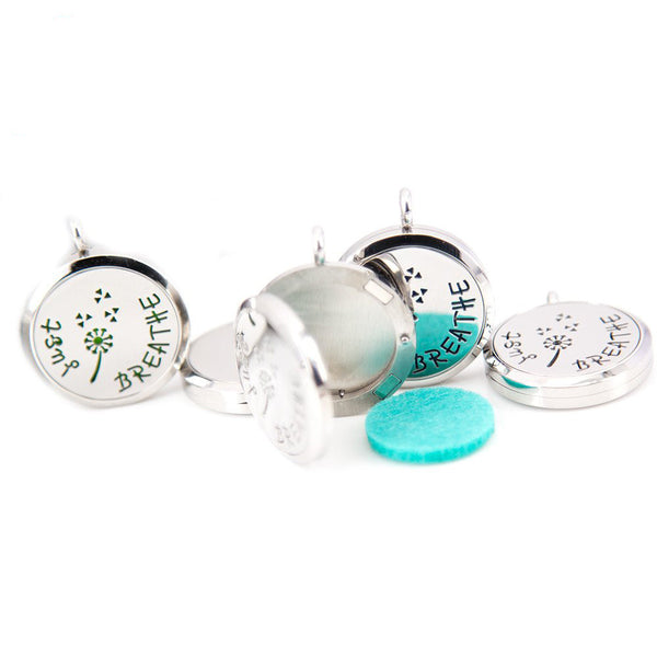 Breathe Aromatherapy / Essential Oil Diffuser Locket Necklace