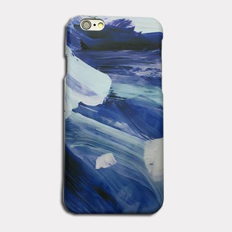Blue Brush Strokes Phone Case For iPhones