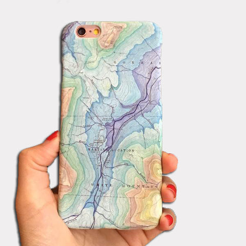 White Mountains Pastel Phone Case for iPhones