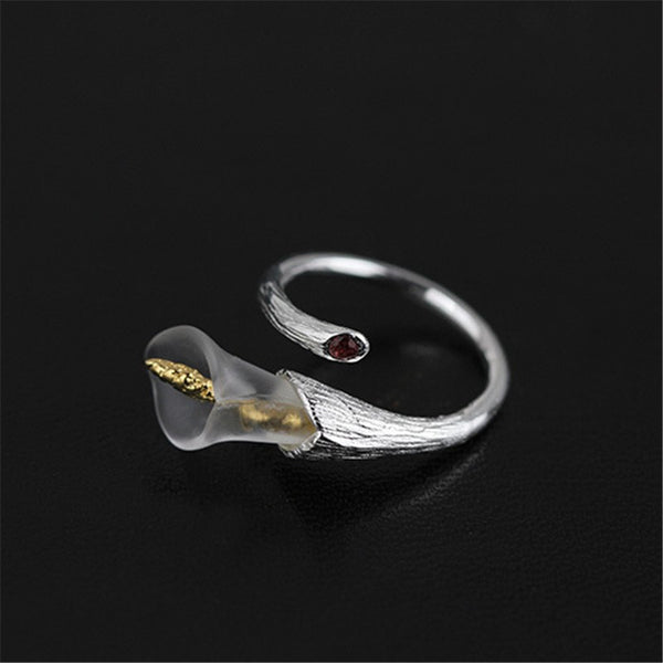 Adjustable Calla Lily Ring