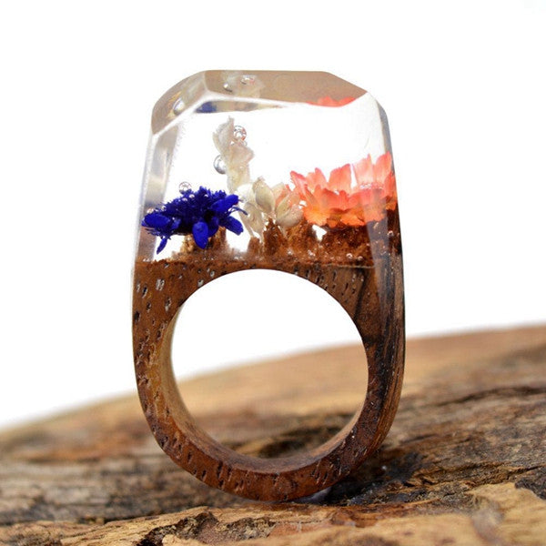 Wonder Lust Handmade Wooden Resin Ring