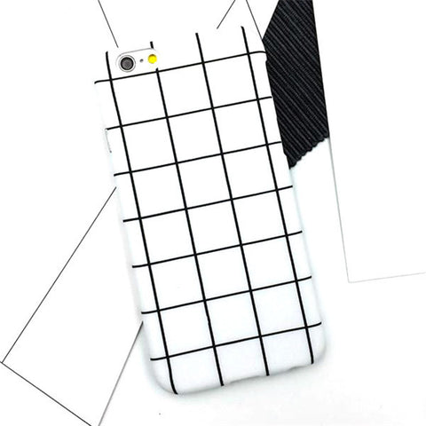 White and Black Squares Phone Case for Iphones