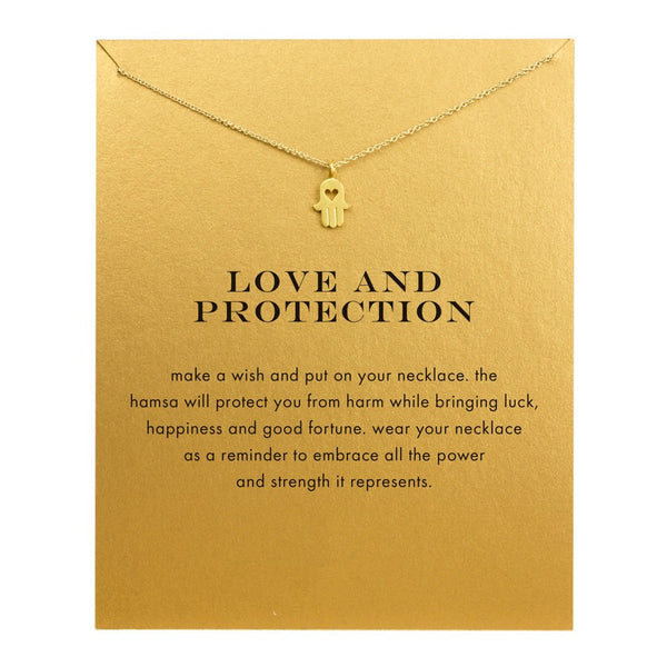 Love and Protection Statement Necklace