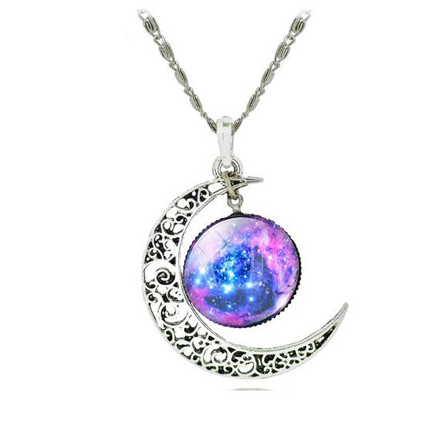 Star Moon & Time Pendant Necklace