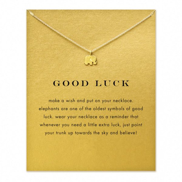 Good Luck Elephant Pendant Statement Necklace