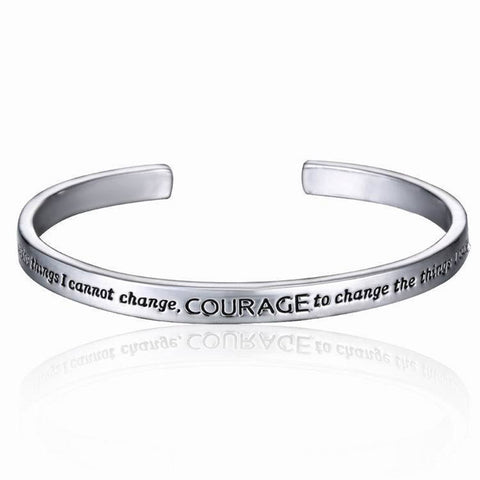 Serenity Prayer Cuff Bangle Bracelet