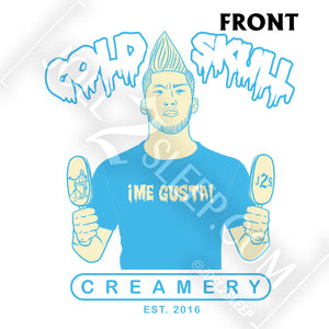 """COLD SKULL CREAMERY"" ROYAL BLUE HEATHER CREWNECK"
