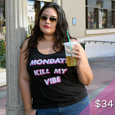 Mondays Kill My Vibe Plus Size Tank Top