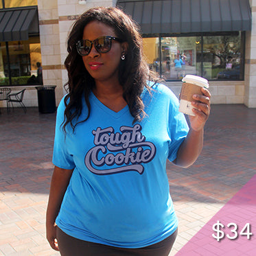 Tough Cookie Plus Size Vneck Shirt