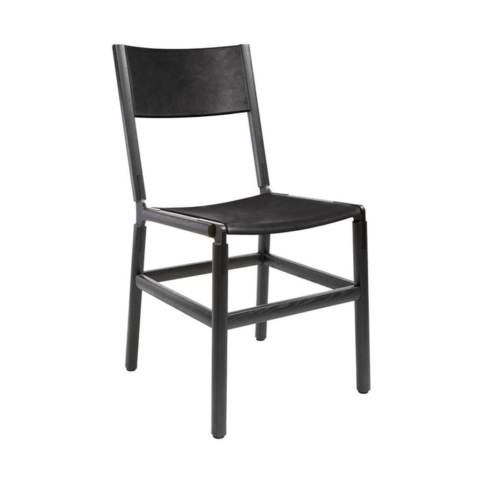Mariposa - Charcoal Black, Black, PVT Leather, Seat And Back, Coal