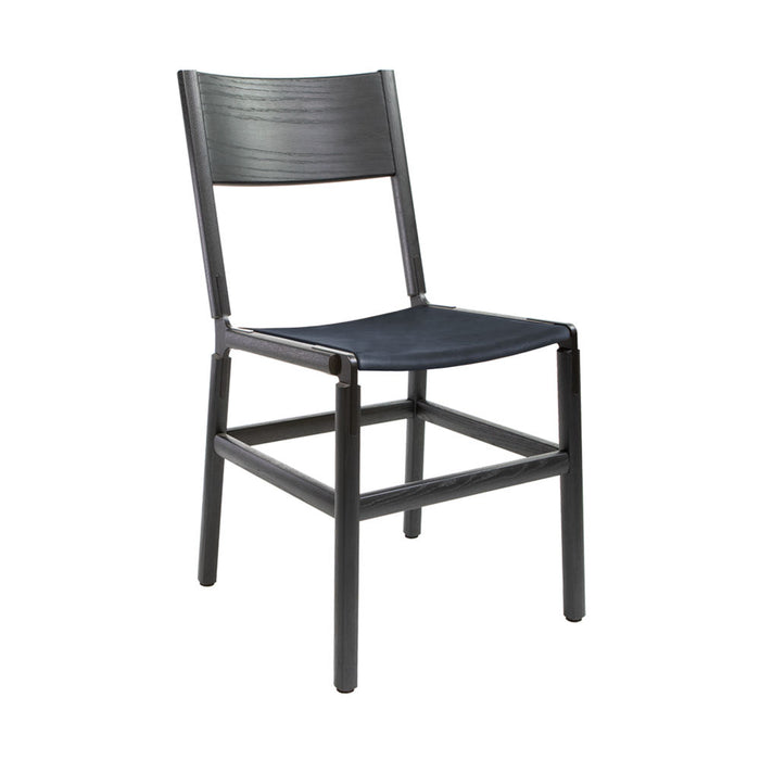 Mariposa - Charcoal Black, Black, PVT Leather, Seat Only, Night