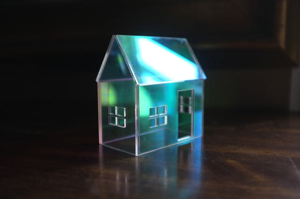 Rainbow Iridescent Acrylic House