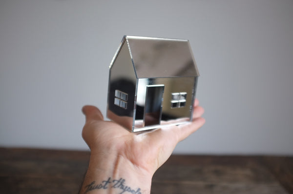 Mirrored House in Silver