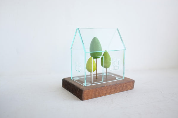 Miniature Terrarium with Spring Trees