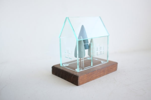Miniature Terrarium with Evergreen Trees