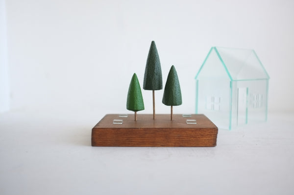 Miniature Terrarium with Pine Trees
