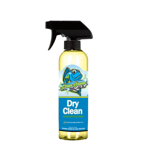 Clean Green Wash & Wax Dry Clean Interior Cleaner 16 oz Concentrate 30:1