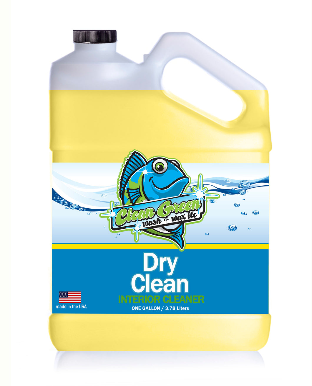 Clean Green Wash & Wax Dry Clean Interior Cleaner 1 Gallon Concentrate 30:1