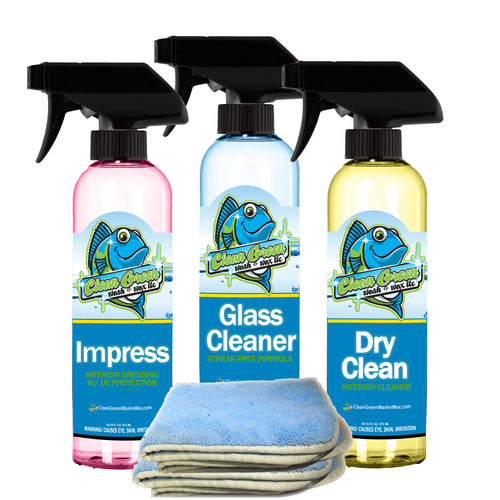 Clean Green Wash & Wax New Car Interior Detail Kit