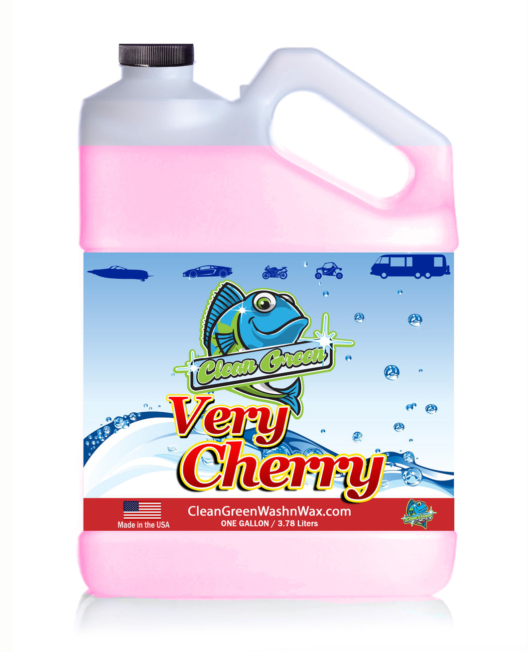 Clean Green Wash & Wax Very Cherry 1 Gallon