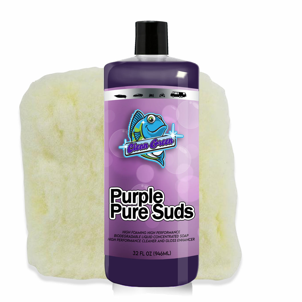Clean Green Purple Pure Suds with Wash Pad