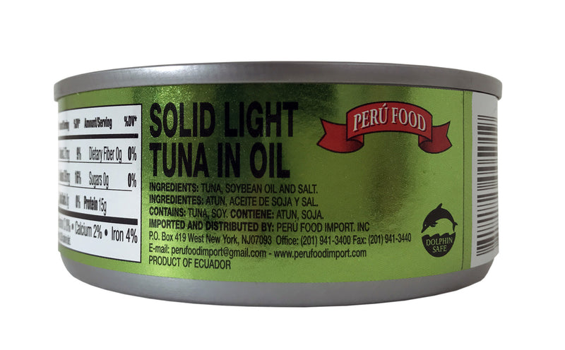Peru Food Solido de Atun en Aceite 5 oz. - 6 Pack