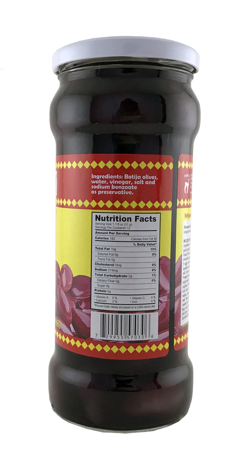 Inca's Food Botija Black Olives 20 oz.