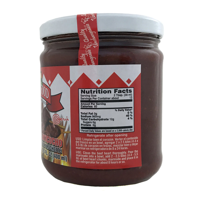 Peru Food Aderezo de Anticucho 13.5 oz.