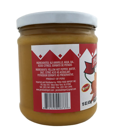 Peru Food Yellow Hot Pepper - Aji Amarillo 15 oz.