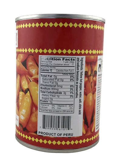 Inca's Food Canned Yellow Hot Pepper 20 oz.