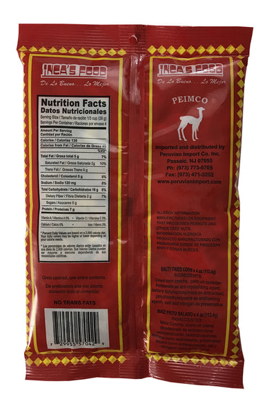 Inca's Food Cancha Saladita 4 oz. - Salty Fried Corn