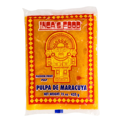 Inca's Food Pulpa De Maracuya - Frozen Passion Fruit Pulp 15 oz