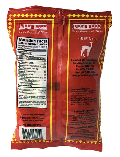 Inca's Food Plantain Chips - Platanitos Fritos 3.6 oz.