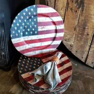 US Flag Charger Plate