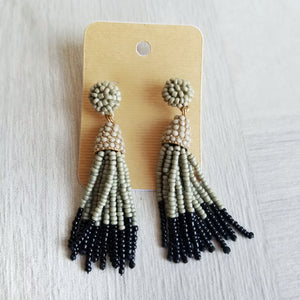 Gray + Black Tassel