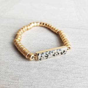 Gold and Stone Bracelet