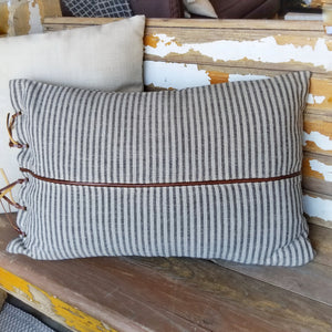 Leather Trim Pillows