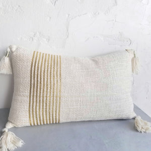 Gold Tassle Pillow