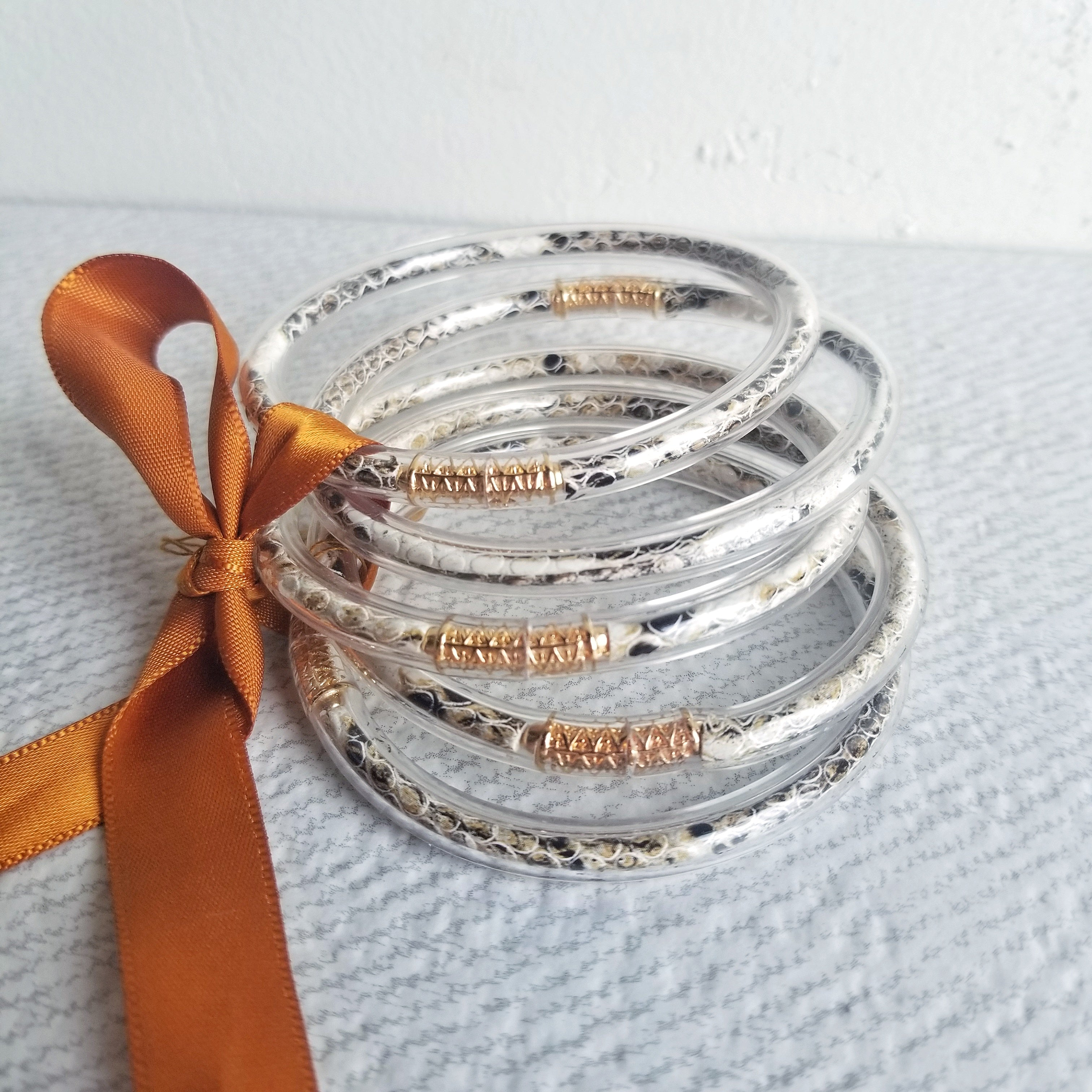 Animal Print Jelly Bangle Set