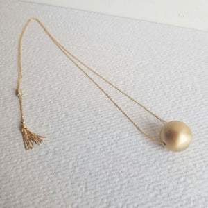 Adjustable Gold Ball Necklace