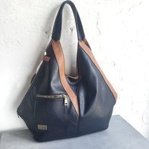 Chloe Black Reversible Hobo