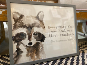Racoon Quote Print