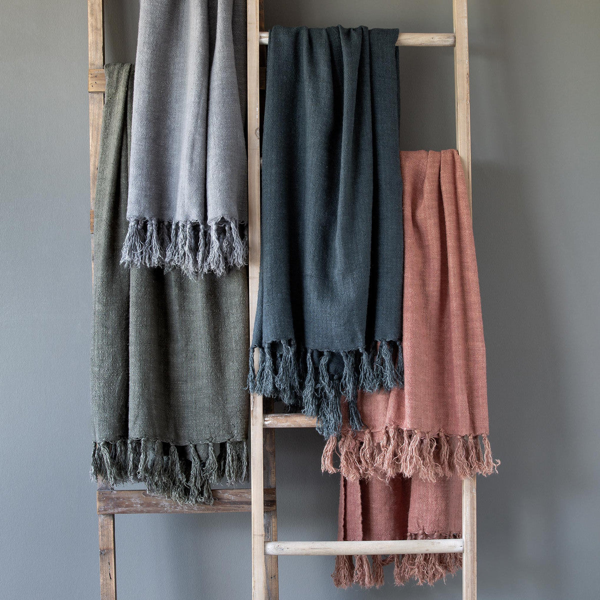 Washed Linen Throw