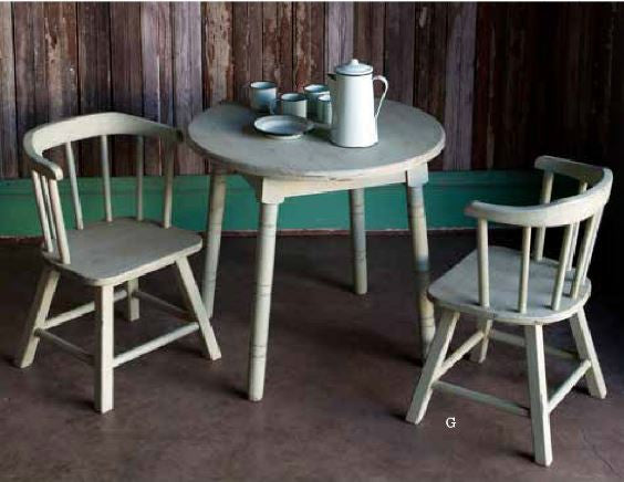 Old Paint Miniature Table and Chairs