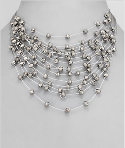 Crystal Layers Necklace