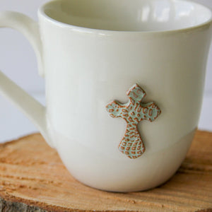 Prodigal Pottery Cross Mug
