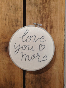 Love you more hoop
