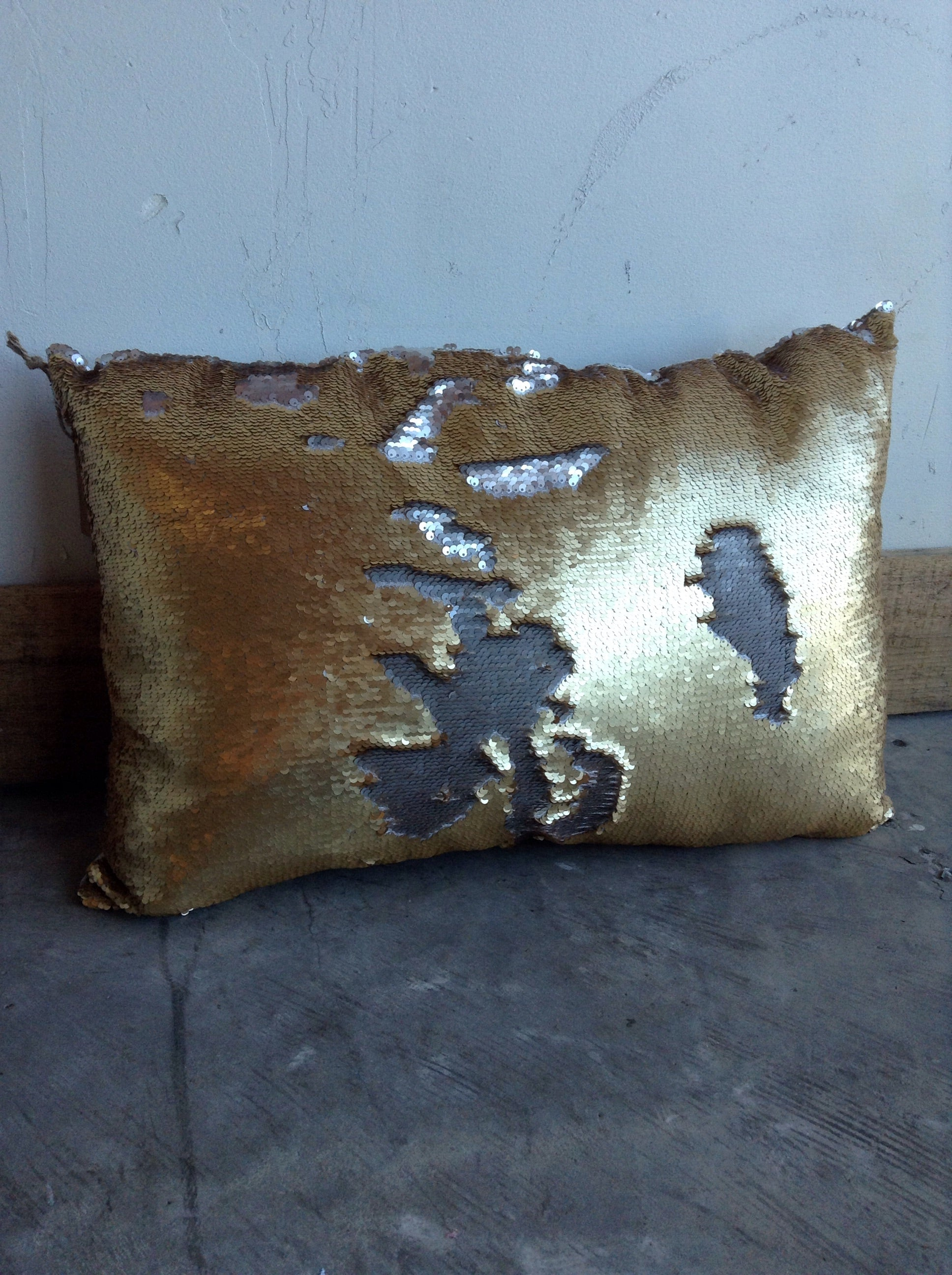 Oblong Sequin mermaid pillow