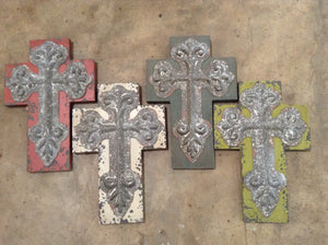 Wood and tin cross